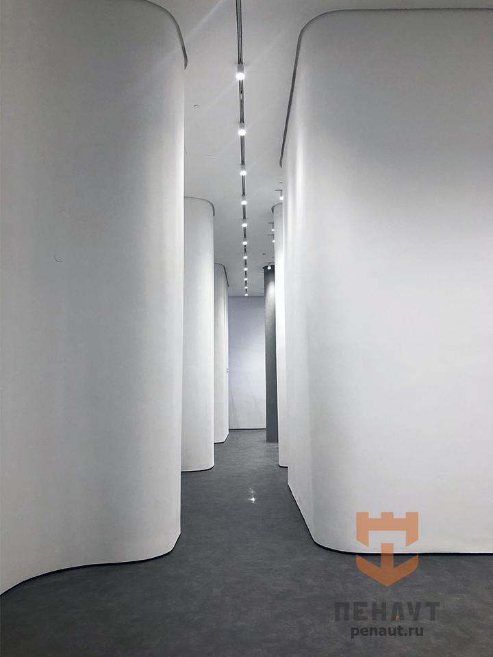 Окраска выставочного зала для  Знаменского СГЦ