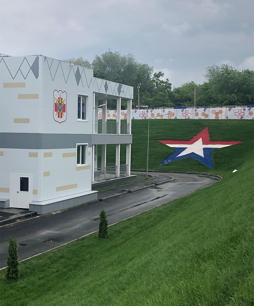 Фото Покраска военного госпиталя г. Ростов-на-Дону