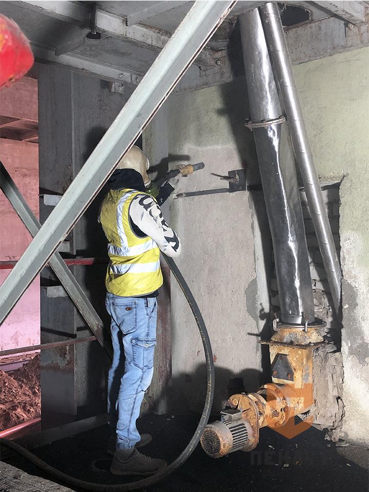 Фото Абразивная очистка стен на «Сыробогатов»