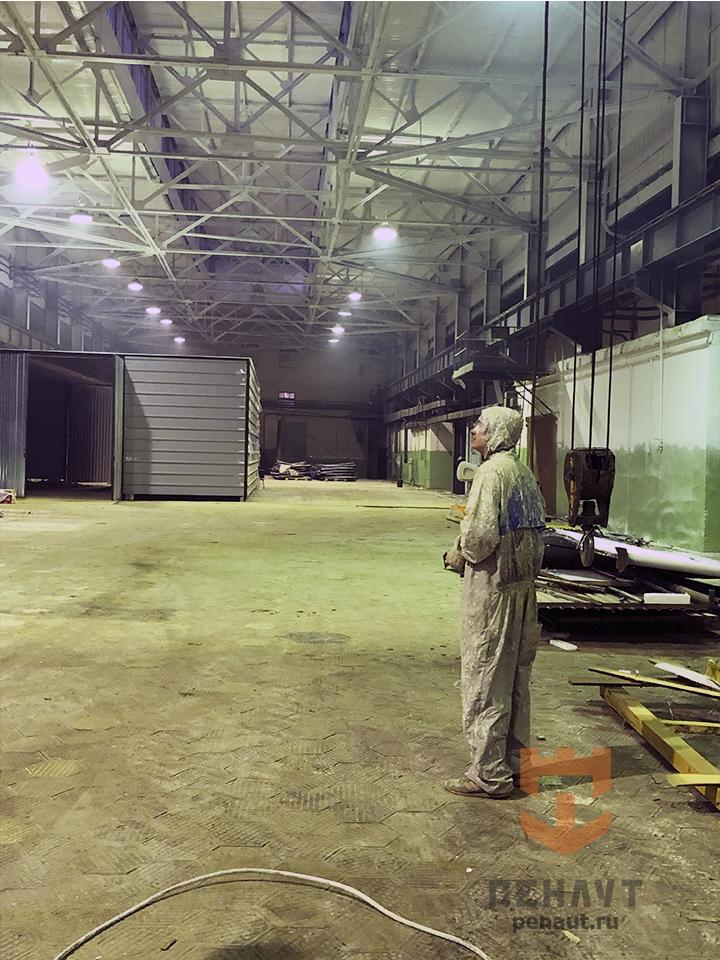 Фото Окраска потолка склада «Орелтекмаш»